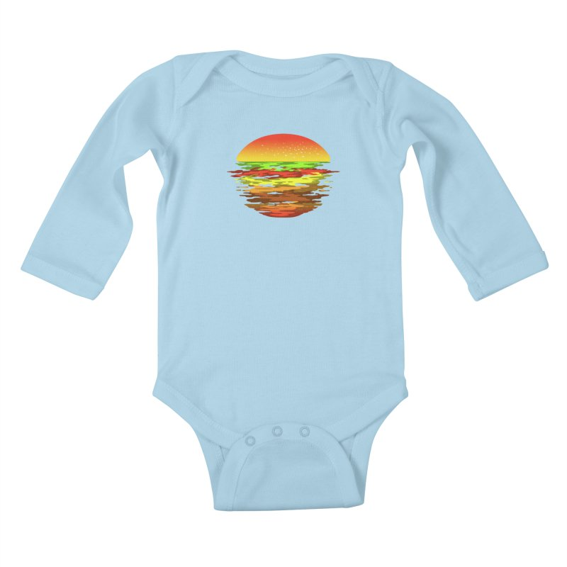 SUNSET BURGER Kids Baby Longsleeve Bodysuit by alchemist's Artist Shop