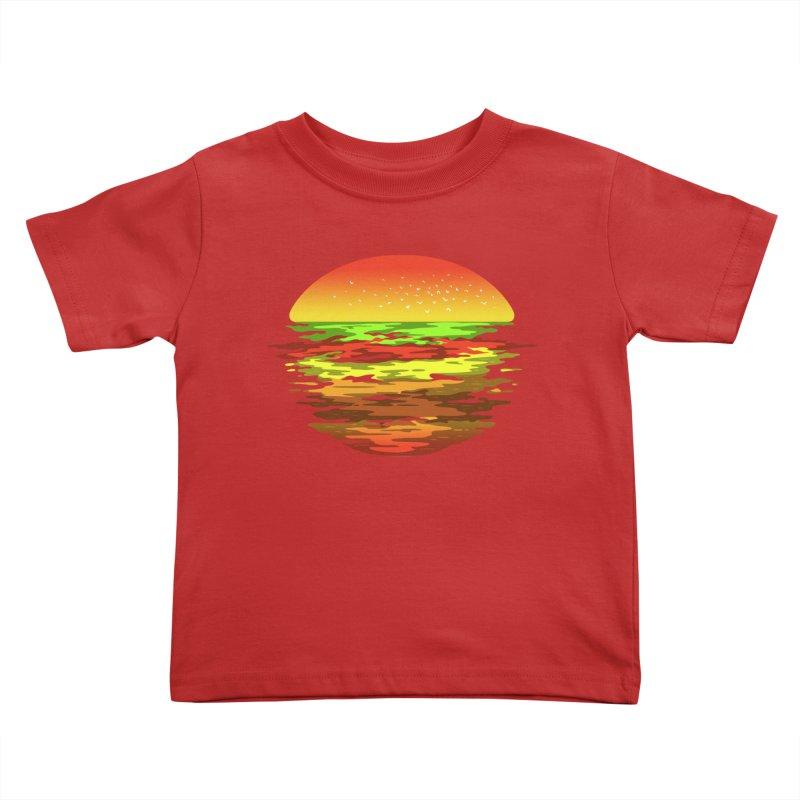 SUNSET BURGER Kids Toddler T-Shirt by alchemist's Artist Shop