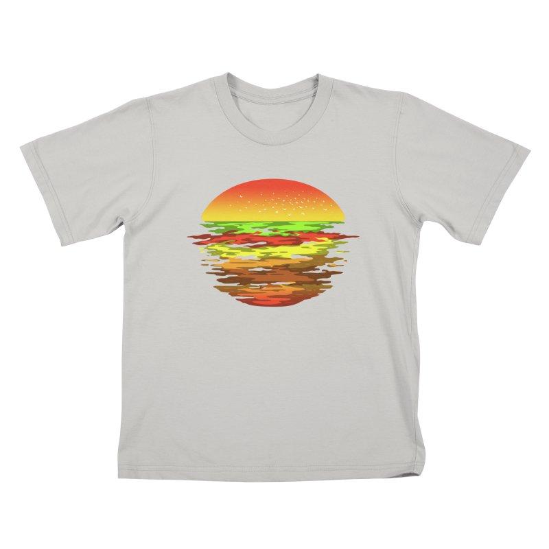 SUNSET BURGER Kids T-shirt by alchemist's Artist Shop