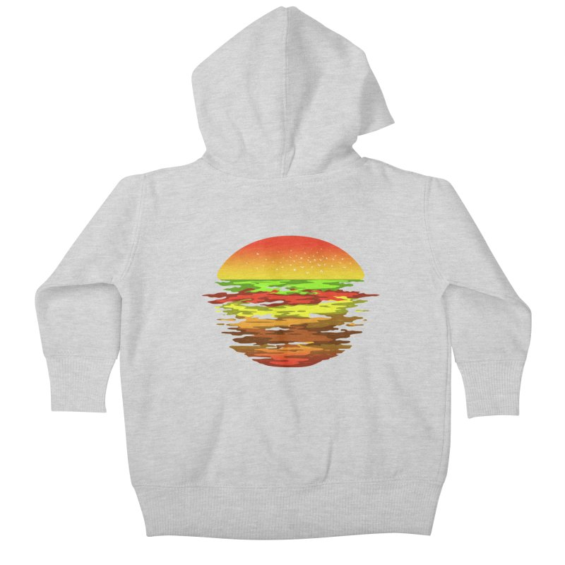 SUNSET BURGER Kids Baby Zip-Up Hoody by alchemist's Artist Shop