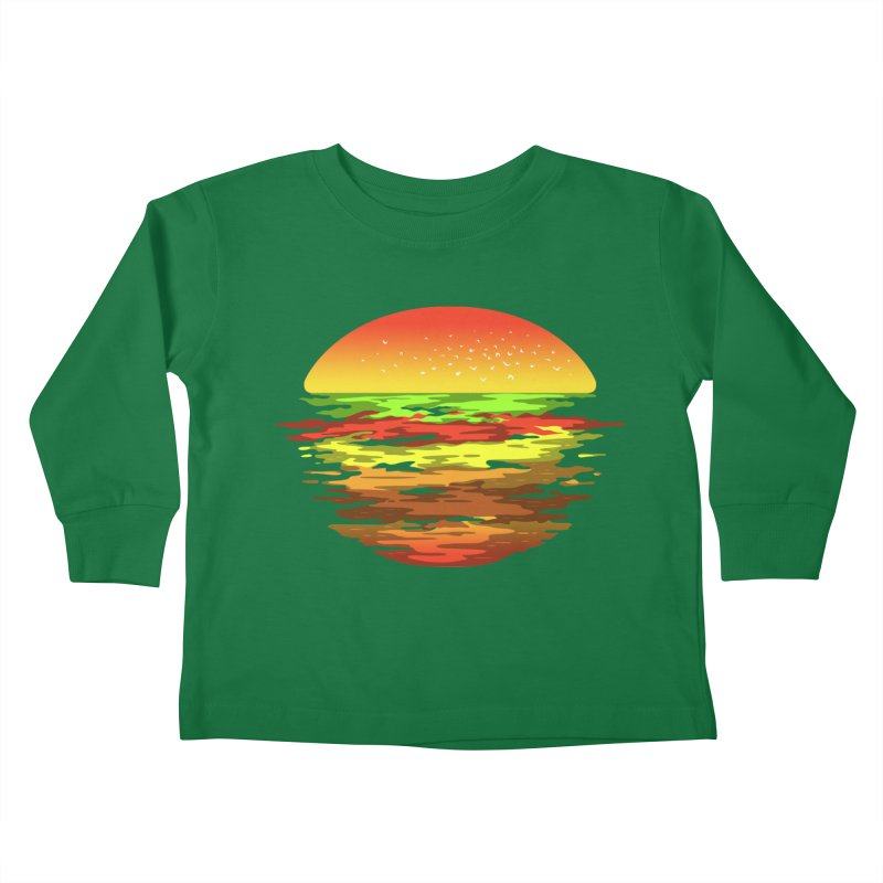 SUNSET BURGER Kids Toddler Longsleeve T-Shirt by alchemist's Artist Shop