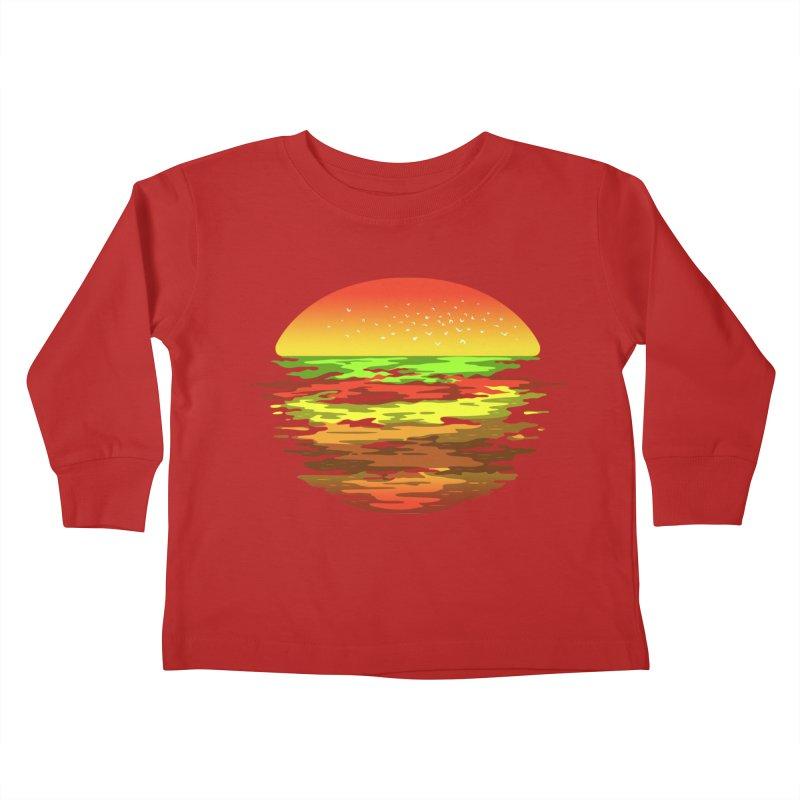 SUNSET BURGER Kids Toddler Longsleeve T-Shirt by alchemist's Artist Shop