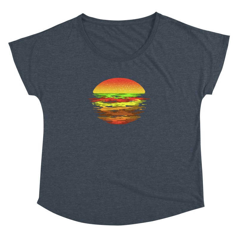 SUNSET BURGER Women's Dolman by alchemist's Artist Shop