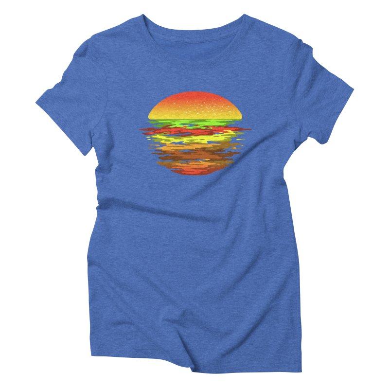 SUNSET BURGER Women's Triblend T-shirt by alchemist's Artist Shop