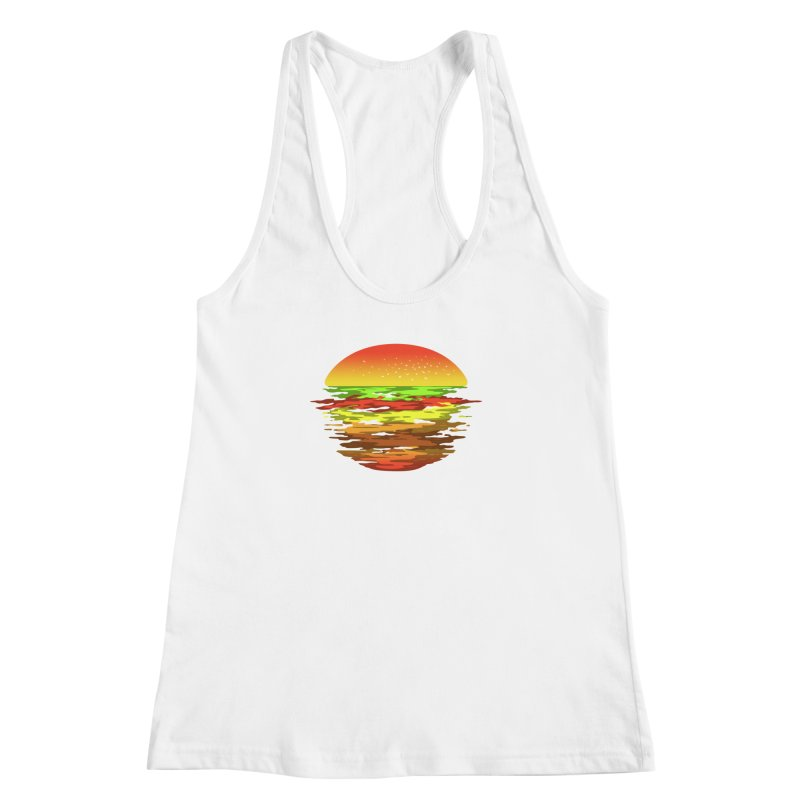SUNSET BURGER Women's Racerback Tank by alchemist's Artist Shop