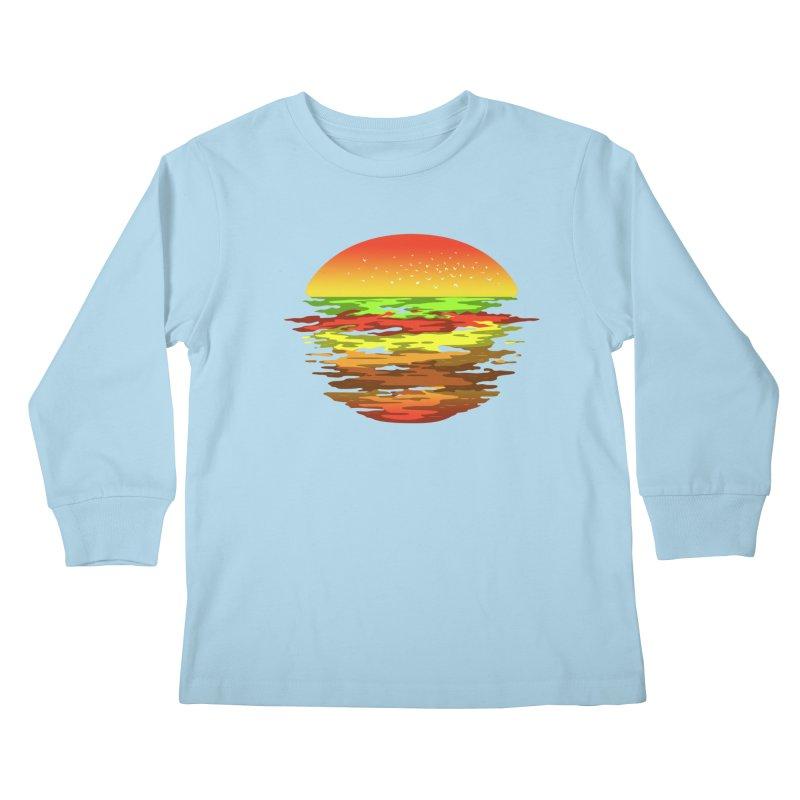 SUNSET BURGER Kids Longsleeve T-Shirt by alchemist's Artist Shop