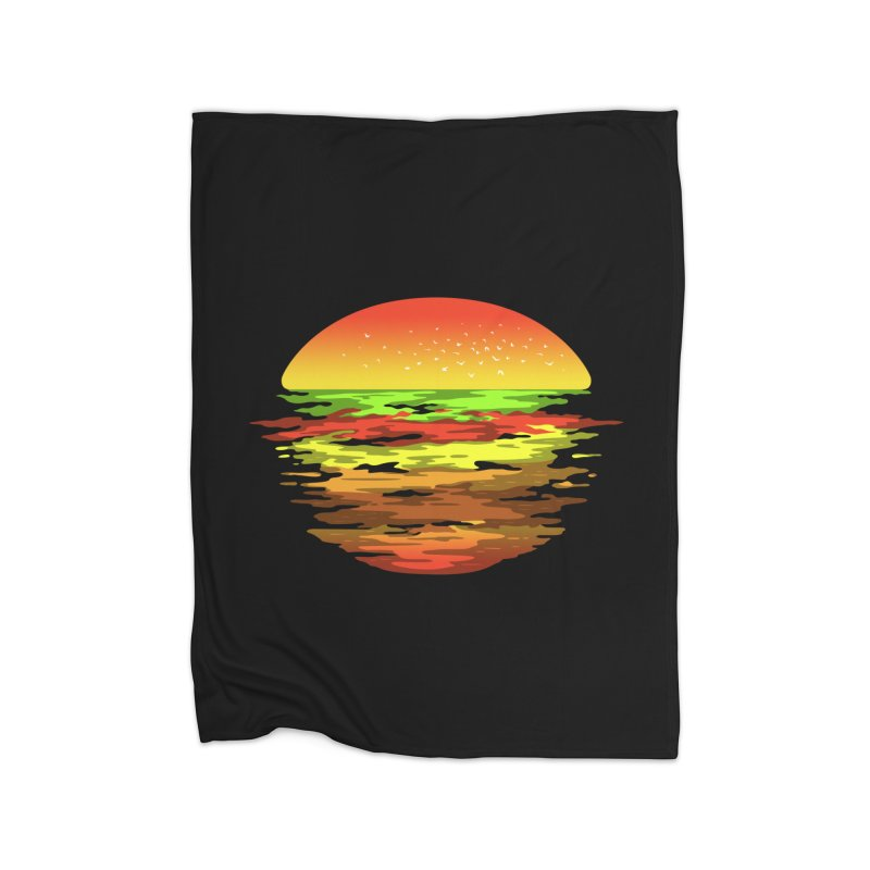 SUNSET BURGER Home Blanket by alchemist's Artist Shop