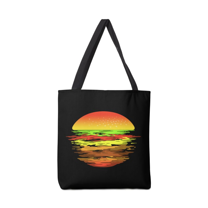 SUNSET BURGER Accessories Bag by alchemist's Artist Shop