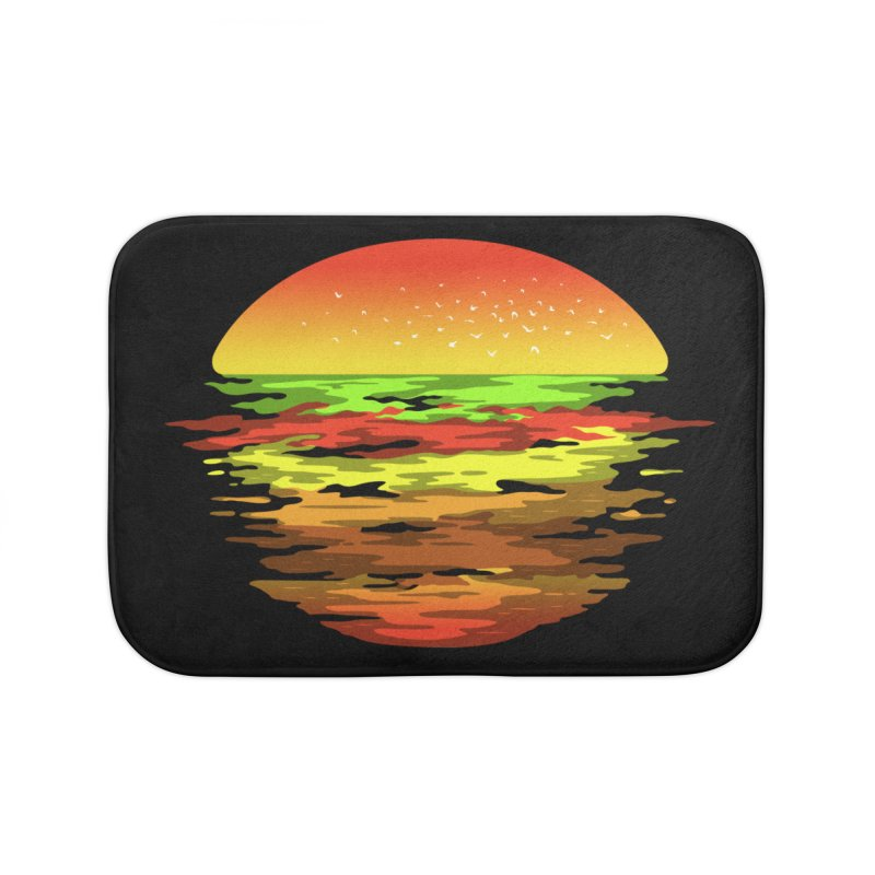SUNSET BURGER Home Bath Mat by alchemist's Artist Shop