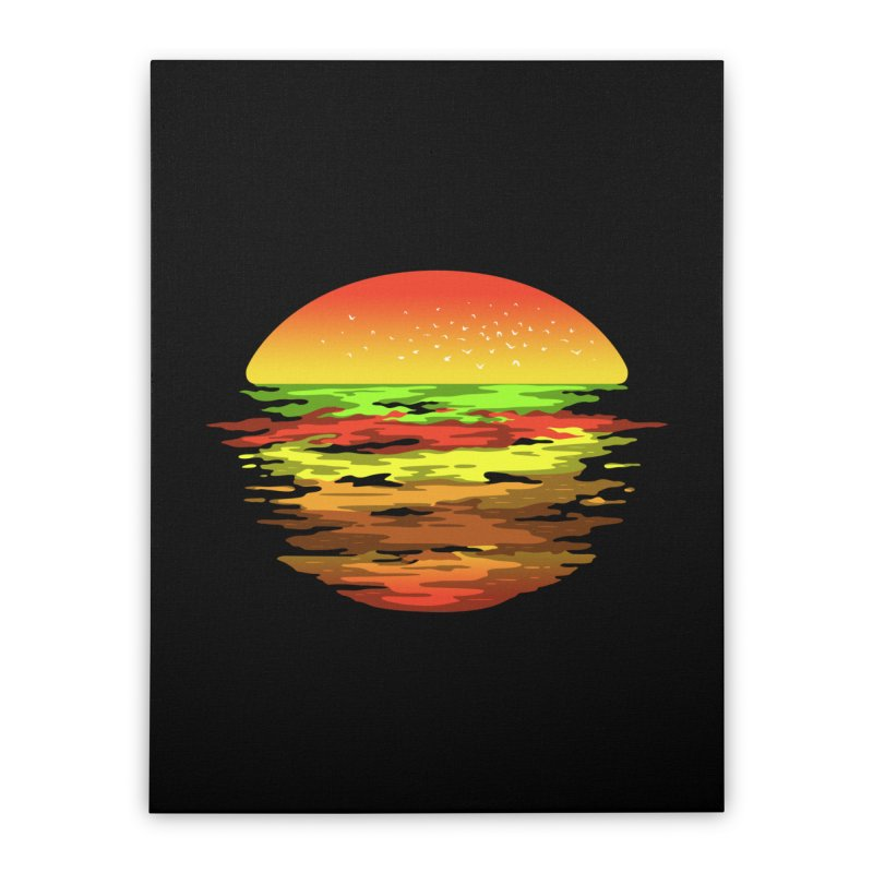 SUNSET BURGER Home Stretched Canvas by alchemist's Artist Shop