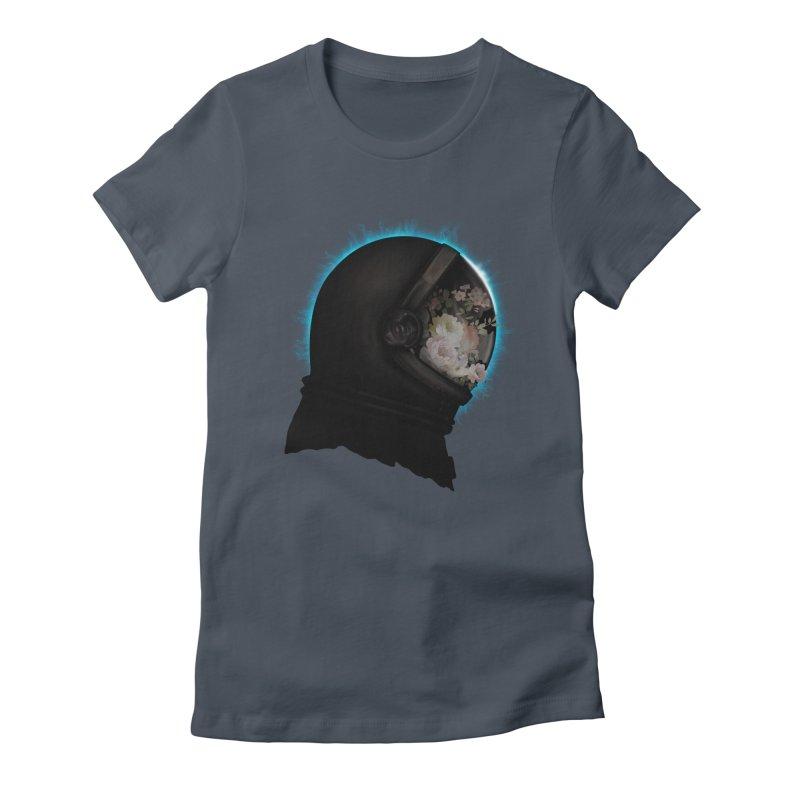 ASTRAL ECLIPSE Women's Fitted T-Shirt by alchemist's Artist Shop