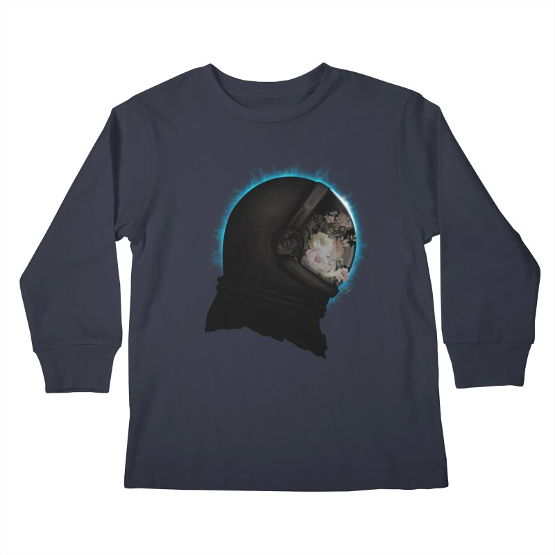ASTRAL ECLIPSE Kids Longsleeve T-Shirt by alchemist's Artist Shop