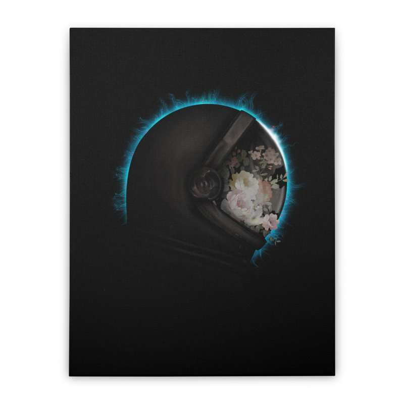 ASTRAL ECLIPSE Home Stretched Canvas by alchemist's Artist Shop