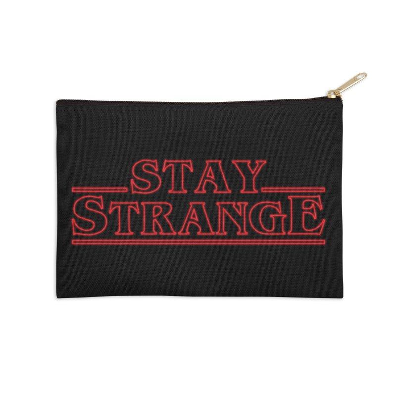 STAY STRANGE Accessories Zip Pouch by alchemist's Artist Shop