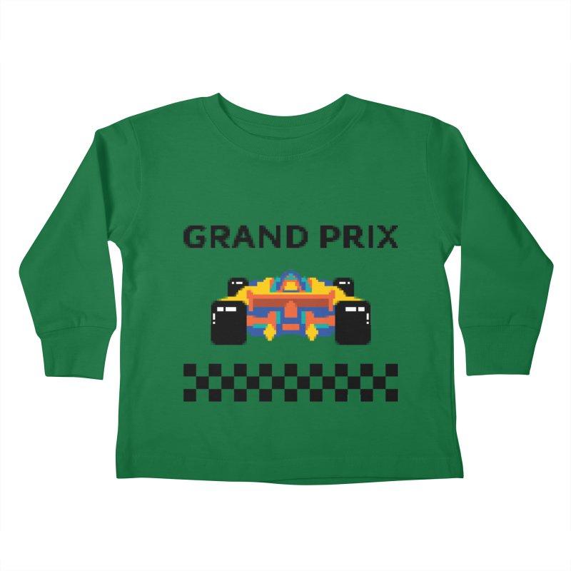 GRAND PRIX Kids Toddler Longsleeve T-Shirt by alchemist's Artist Shop