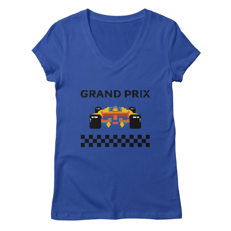 GRAND PRIX Women's V-Neck by alchemist's Artist Shop