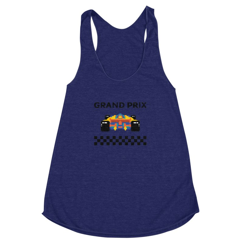 GRAND PRIX Women's Racerback Triblend Tank by alchemist's Artist Shop