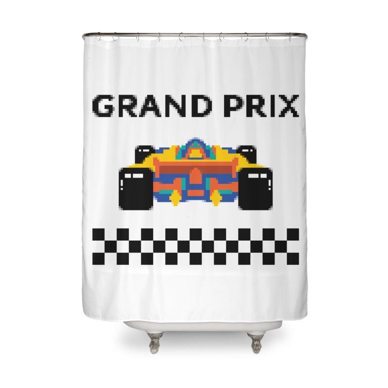 GRAND PRIX Home Shower Curtain by alchemist's Artist Shop