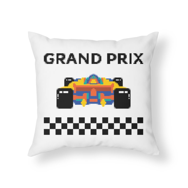GRAND PRIX Home Throw Pillow by alchemist's Artist Shop