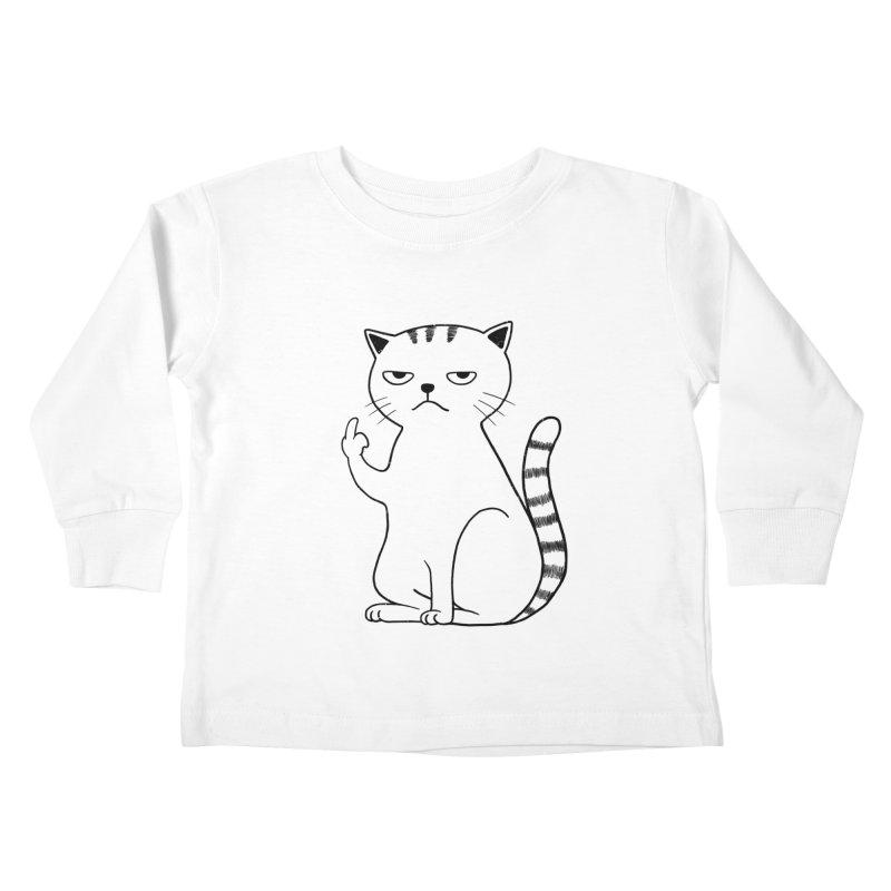 F#ck u boss Kids Toddler Longsleeve T-Shirt by alchemist's Artist Shop