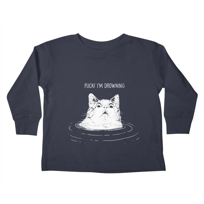 I'M DROWNING Kids Toddler Longsleeve T-Shirt by alchemist's Artist Shop