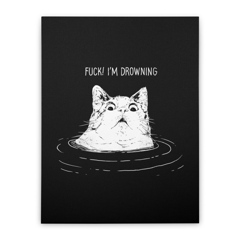 I'M DROWNING Home Stretched Canvas by alchemist's Artist Shop