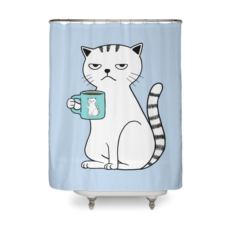 COFFEE CAT Home Shower Curtain by alchemist's Artist Shop