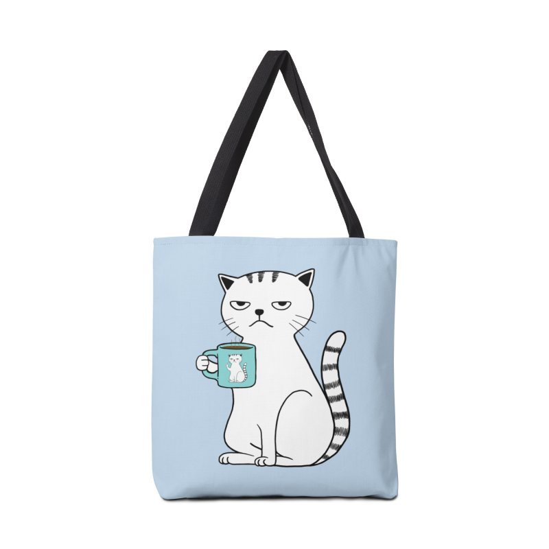 COFFEE CAT Accessories Bag by alchemist's Artist Shop