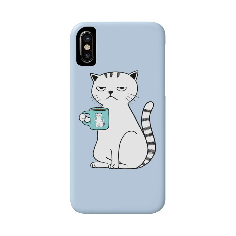 COFFEE CAT Accessories Phone Case by alchemist's Artist Shop