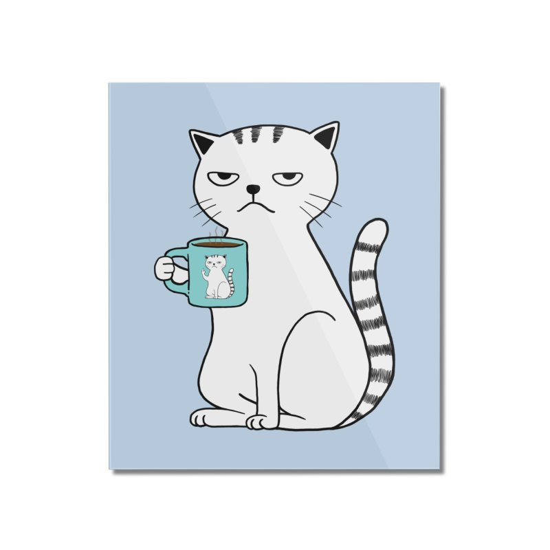 COFFEE CAT Home Mounted Acrylic Print by alchemist's Artist Shop