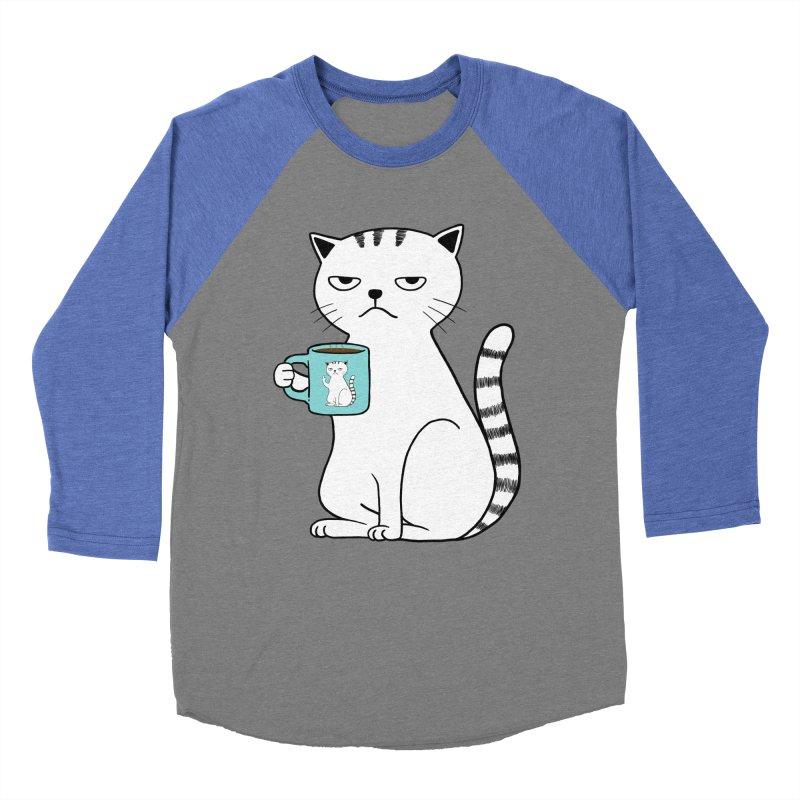COFFEE CAT Women's Baseball Triblend T-Shirt by alchemist's Artist Shop