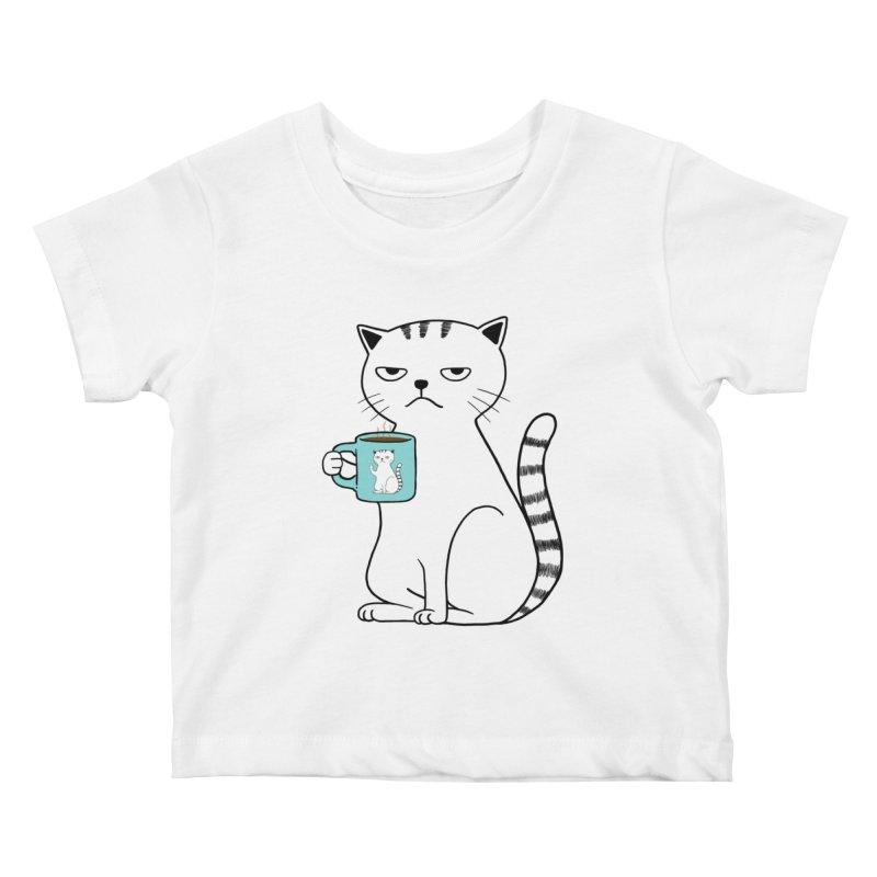 COFFEE CAT Kids Baby T-Shirt by alchemist's Artist Shop