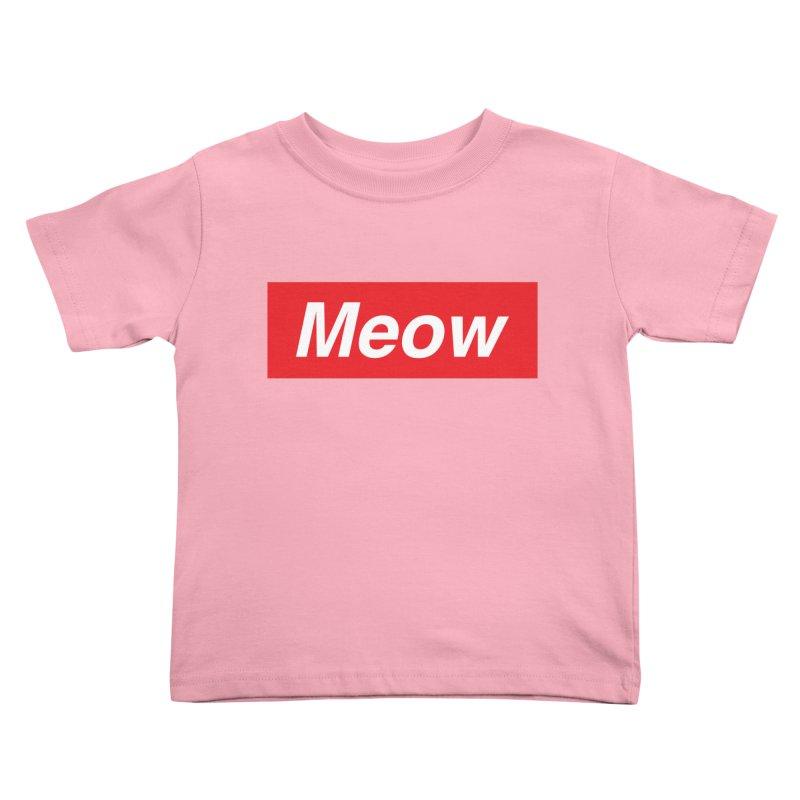 meow Kids Toddler T-Shirt by alchemist's Artist Shop