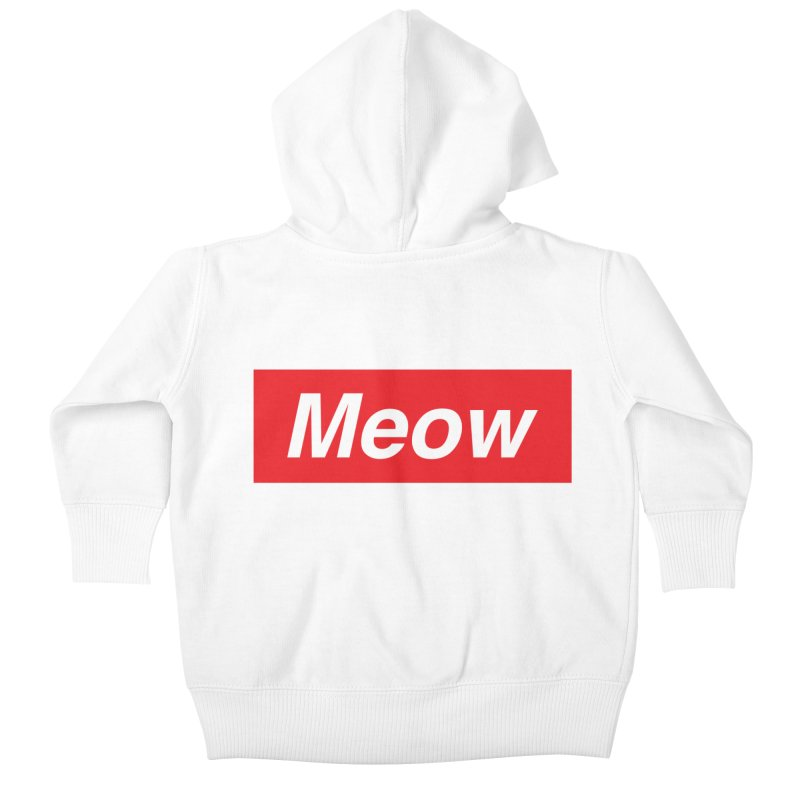meow Kids Baby Zip-Up Hoody by alchemist's Artist Shop