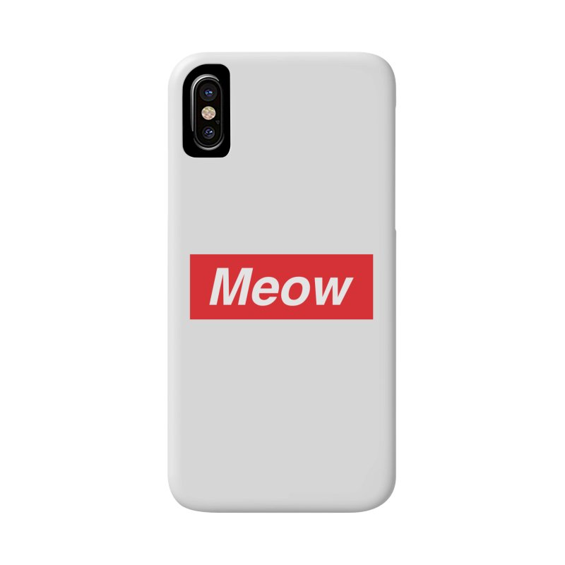 meow Accessories Phone Case by alchemist's Artist Shop