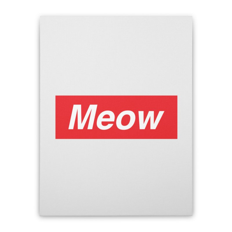 meow Home Stretched Canvas by alchemist's Artist Shop