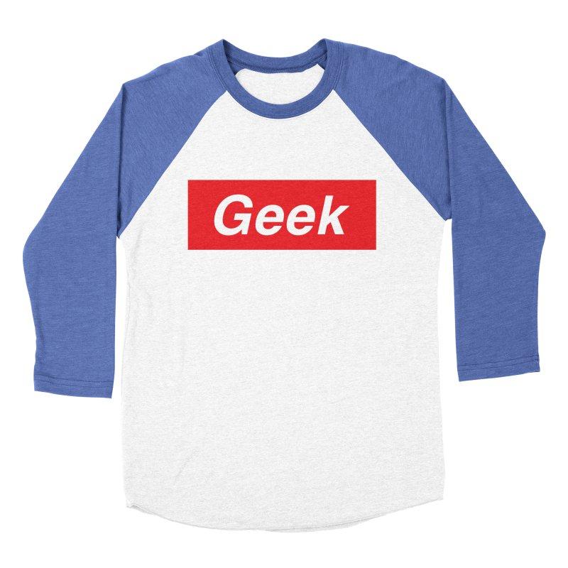 GEEK Women's Baseball Triblend T-Shirt by alchemist's Artist Shop