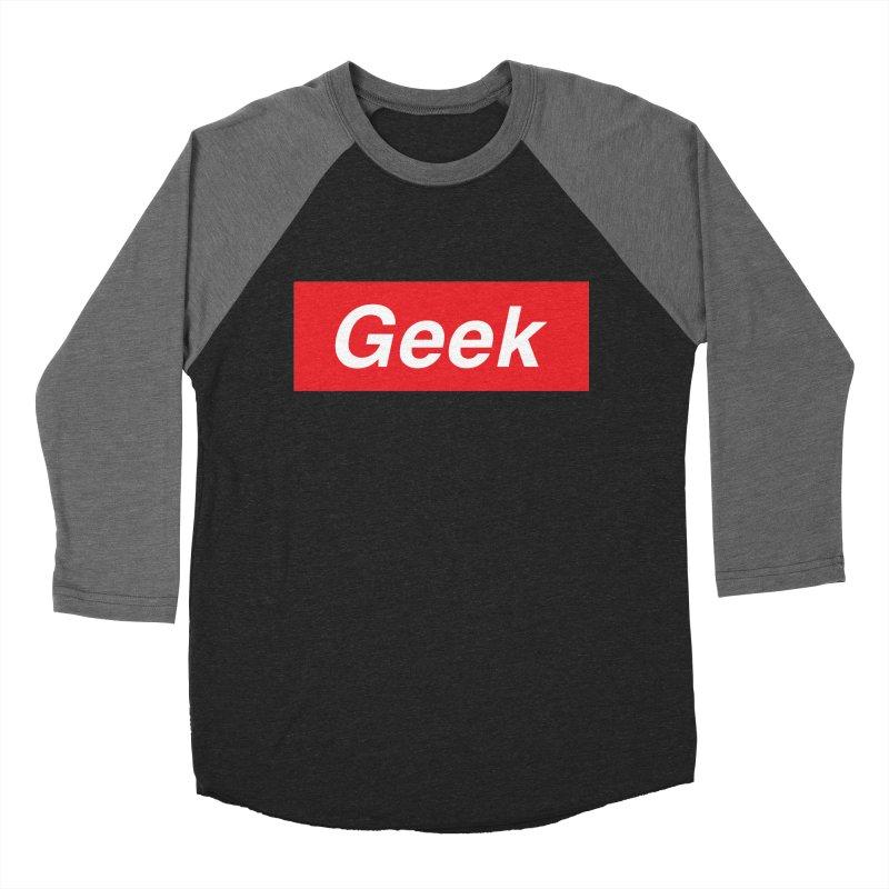 GEEK Men's Baseball Triblend T-Shirt by alchemist's Artist Shop