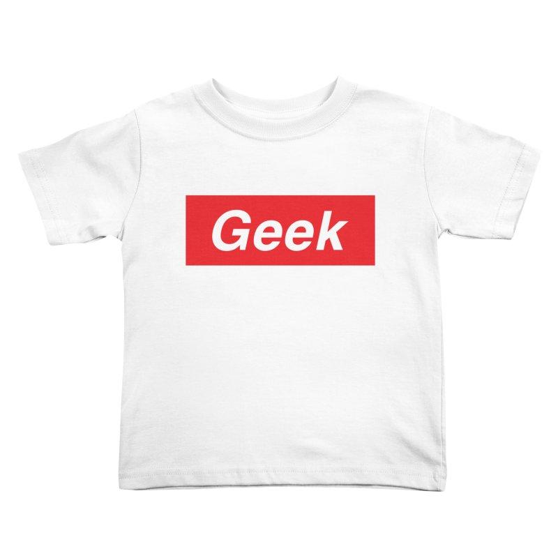 GEEK Kids Toddler T-Shirt by alchemist's Artist Shop