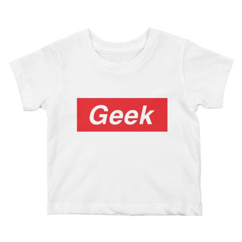 GEEK Kids Baby T-Shirt by alchemist's Artist Shop