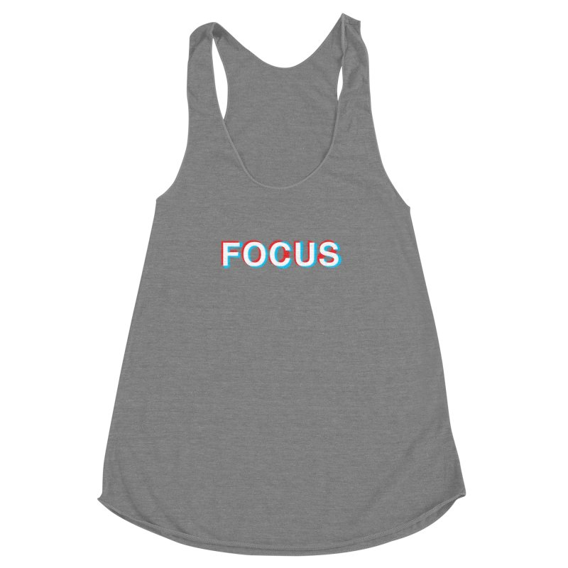 FOCUS Women's Racerback Triblend Tank by alchemist's Artist Shop