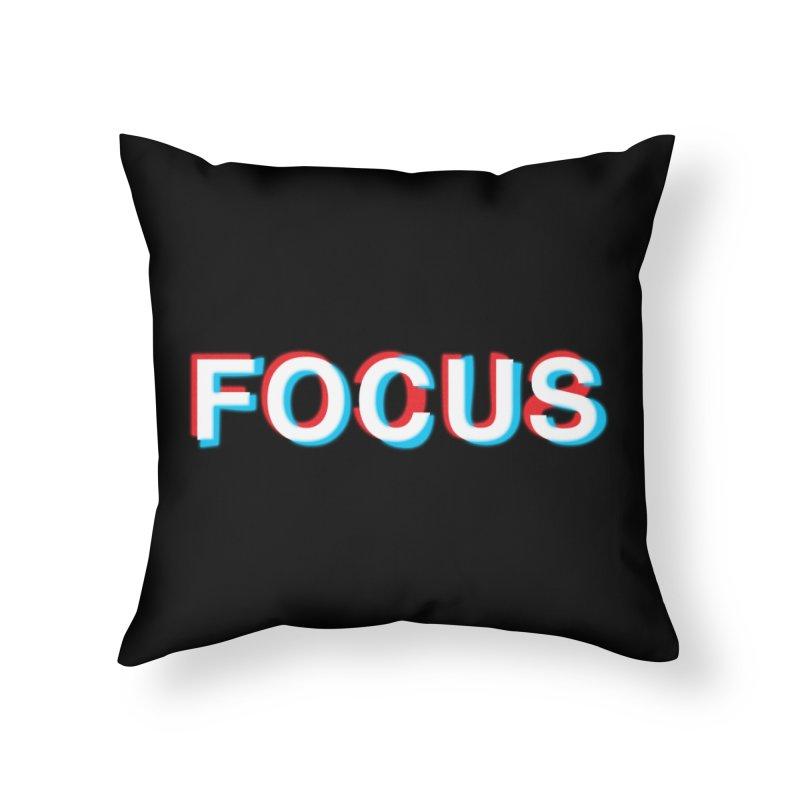 FOCUS Home Throw Pillow by alchemist's Artist Shop