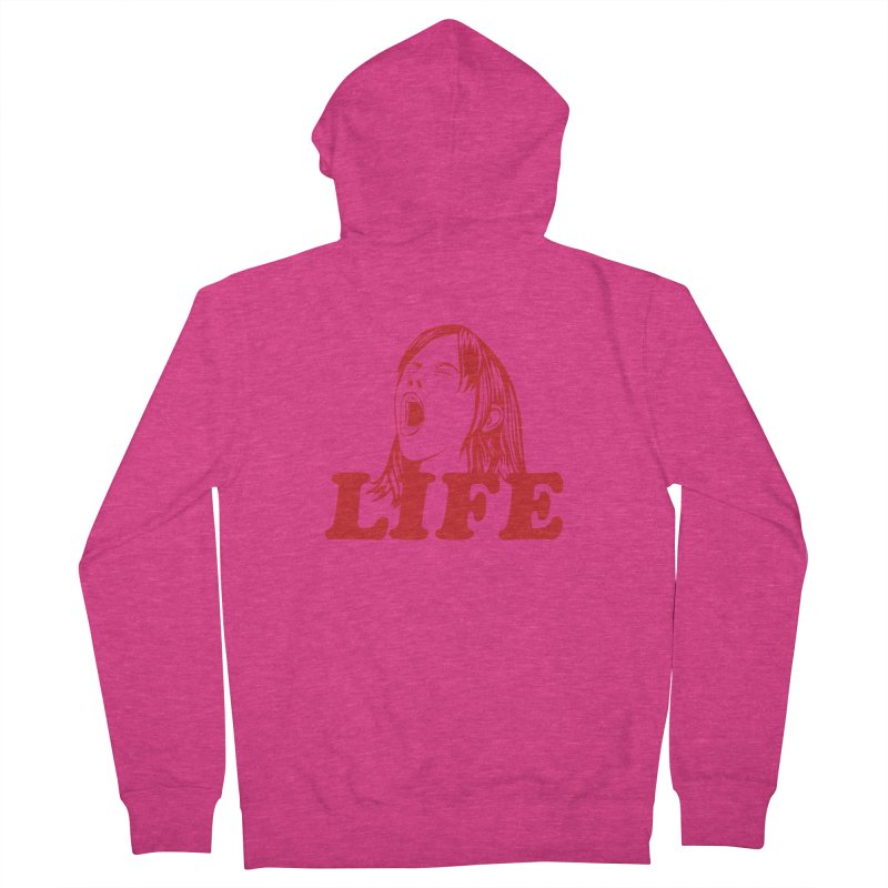 FUCK LIFE Women's Zip-Up Hoody by alchemist's Artist Shop