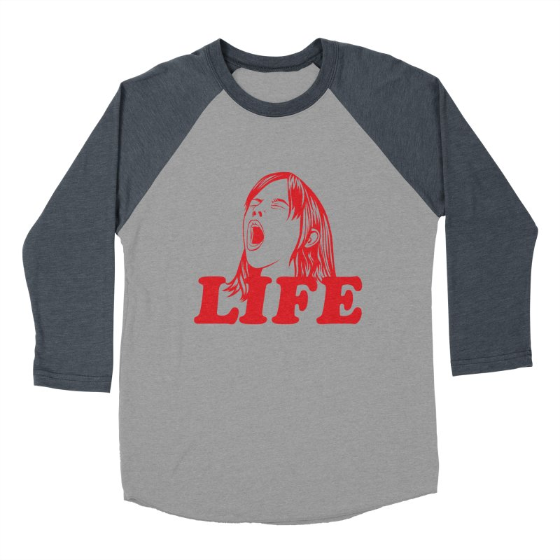 FUCK LIFE Women's Baseball Triblend T-Shirt by alchemist's Artist Shop