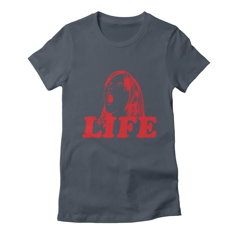 FUCK LIFE Women's Fitted T-Shirt by alchemist's Artist Shop
