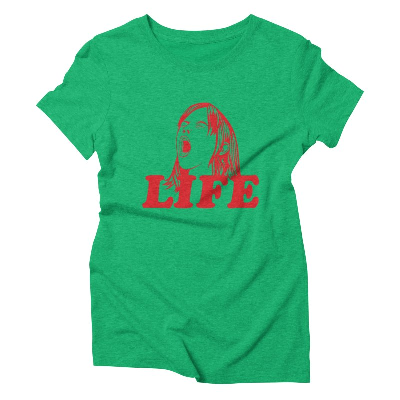 FUCK LIFE Women's Triblend T-Shirt by alchemist's Artist Shop