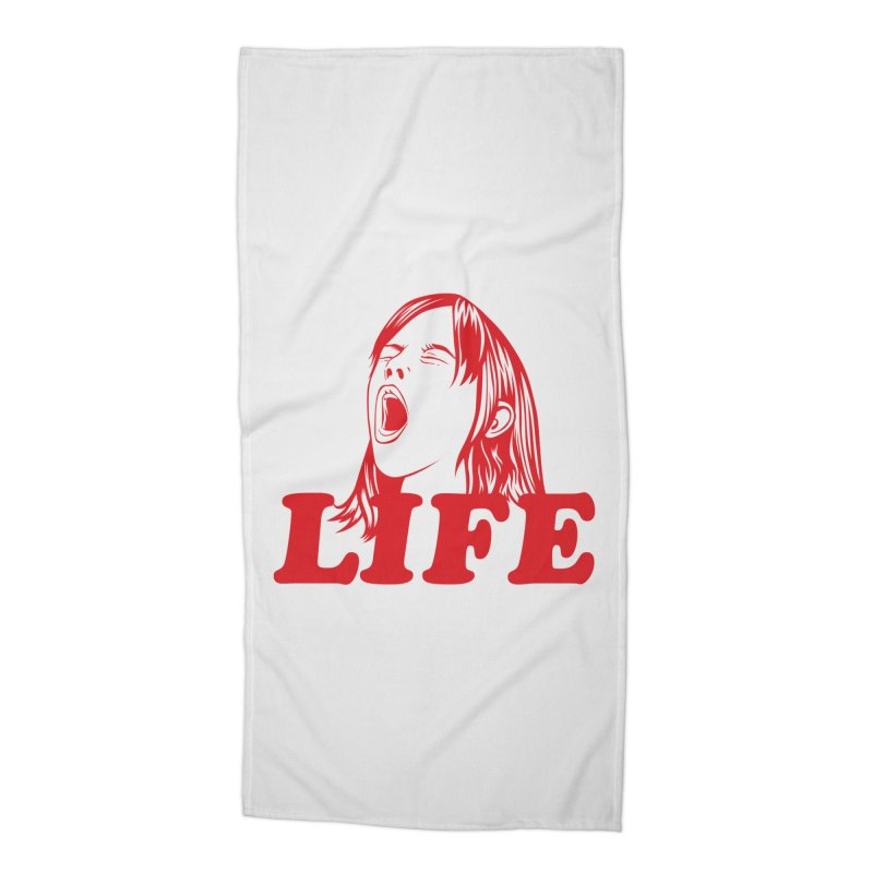 FUCK LIFE Accessories Beach Towel by alchemist's Artist Shop
