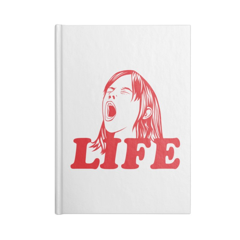 FUCK LIFE Accessories Notebook by alchemist's Artist Shop