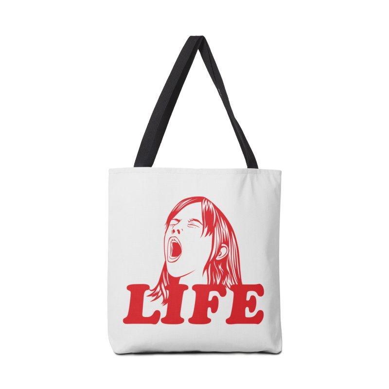 FUCK LIFE Accessories Bag by alchemist's Artist Shop