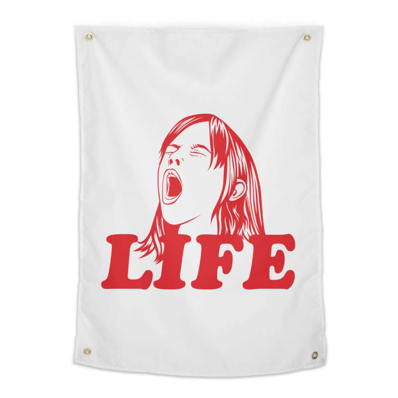FUCK LIFE Home Tapestry by alchemist's Artist Shop